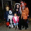 The Kennedy family of Sandy Hook combined classic and current trends for their Halloween costumes this year. From left is Aidan Kennedy as Michael Meyers, Ian as Captain Rex, Keira as Dorothy Gale, Amy as a Corpse Bride, and Andrew as The Mad Hatter.  (Hicks photo)