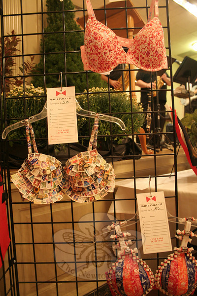Artistically decorated bras, part of the collectionon view October 1 during 2 By 2: Artful Bras and Boxers at Edmond Town Hall. (Hicks photo)