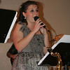 Vocalist Valerie Caraluzzi joined Boplicity for a few songs during the cabaret evening/fundraiser.  (Hicks photo)