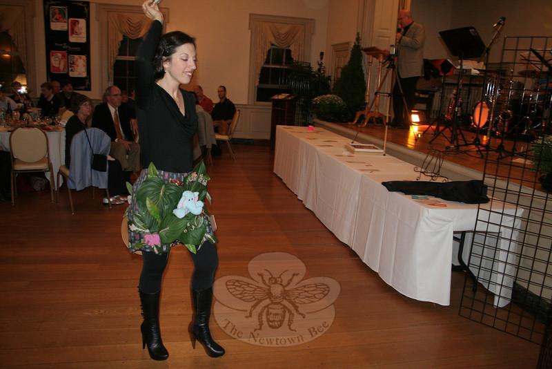 "Paula Elfont, modeling Jan Maria Jagush's ""Wild Thing... I Think I Love You!""    (Hicks photo)"