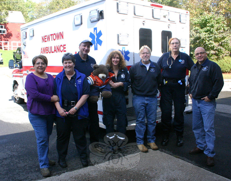 Newtown Volunteer Ambulance Corps sent a representative team to the Sandy Hook Fire & Rescue open house.  (Hicks photo)