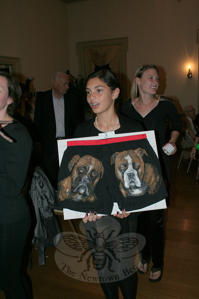 "Emily Meyer with Allison Cummings's ""A Cute Pair.""  (Hicks photo)"