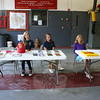 Brianna Piccirillo, Sarah Capozziello and Stephanie Stoyak, during an open house at Sandy Hook Fire & Rescue's main station on Sunday, October 2.  (Hicks photo)