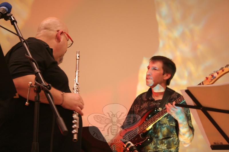 Boplicity bassist Michael Paes.  (Hicks photo)