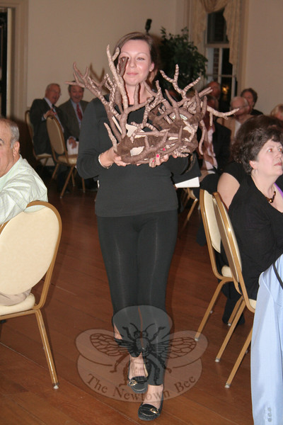 """Kate Studley with Dieter Gutbrod's """"Branchin' Out.""""     (Hicks photo)"""