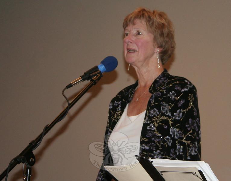 Newtown United Vice President Marianne Scanlon.  (Hicks photo)
