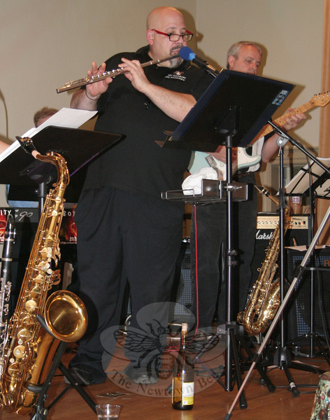 Boplicity flutist and alto saxophonist Robert Rabiniwitz.  (Hicks photo)