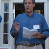 James Gaston, the Democratic candidate for a selectman's seat on the Board of Selectmen in the November 8 municipal elections, spoke on campaign issues on October 9 in front of the Democratic Party campaign headquarters at 33 Main Street.  (Gorosko photo)