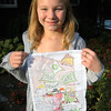 Emily Silber, 11, won for her age group of The Newtown Bee's Special Fall Coloring Contest. (Hallabeck photo)