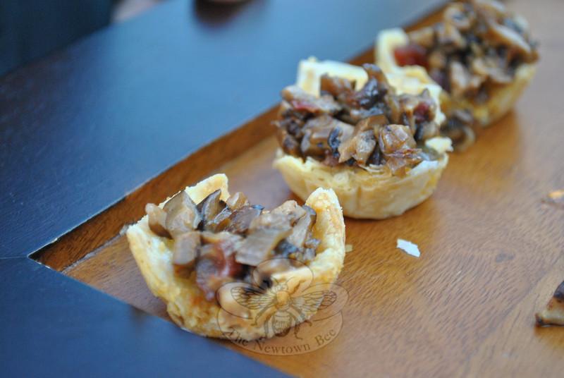 Wild mushroom ragout in Parmesan cheese cups.  (Crevier photo)