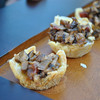 Wild mushroom ragout in Parmesan cheese cups.  (Crevier photo)