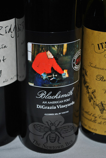 Brookfield-produced port from DiGrazia Vineyard was one of the wines featured at Maple-wood at Newtown Farm to Table reception.  (Crevier photo)