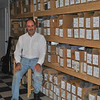 Give him a moment, and Robert LaPorta, owner of MSR Classics label, can put his finger on any one of 375 titles under that label, from the hundreds of boxes lining his basement office wall. Housed in his Newtown home, MSR Classics is an independent classical music label that strives to provide musicians with a quality disc that best presents his or her music, and Mr LaPorta is the artistic director behind each one.  (Crevier photo)