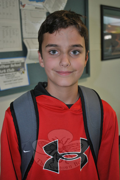 Newtown Bee: How old is too old to go trick-or-treating? Alex Trombetta: 16.  (Hallabeck photo)