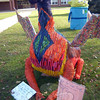 """Crayon Dragon"" created by Newtown Middle School students Sarah Lyon and Abbie Kohler took second place in this year's My Favorite Scarecrow Contest.  (Voket photo)"