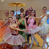 Holding a momentary pose during a recent dress rehearsal are, back row from left, Kelsey Packer, Julia Reczek, Kate Bartel, Hannahj Halloran, and Natalina Schappach, front row, from left are Lauren Bauer, Elizabeth Delp, and Mary Siroky. Under the direction of Jennifer Johnston, Malenkee Ballet Repertoire Company will once again entertain audiences with two performances of The Nutcracker Suite during the Newtown Holiday Festival.  (Bobowick photo)