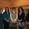 Holiday Festival committee members hope that residents of all ages join them for a six-hour festival next month that will offer activities for many ages and interests while raising funds for Newtown Youth & Family Services. From left is Maureen Birden, Candace Foster, Layne Lescault, Katie Smith and Kaitlyn Johnson.  (Hicks photo)