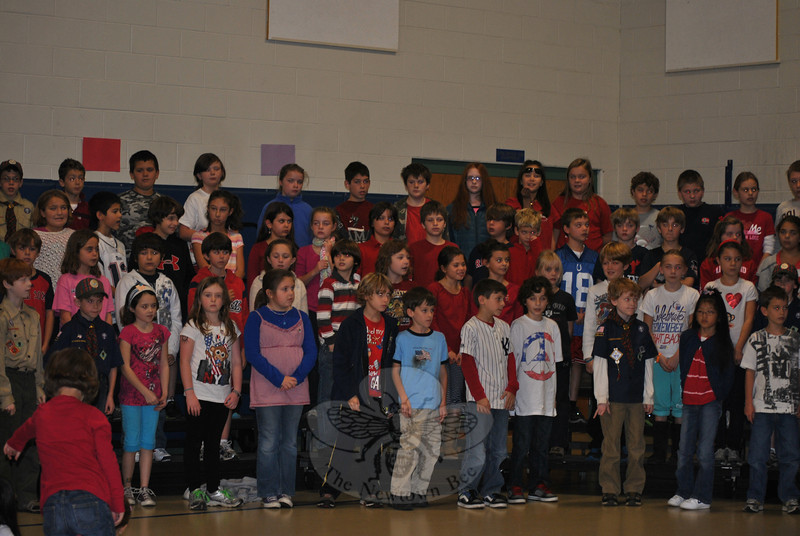 2011 Veterans Day ceremonies at Hawley School.  (Crevier photo)