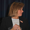 Hawley School Principal Joann Peters, during 2011 Veterans Day ceremonies at the school.  (Crevier photo)