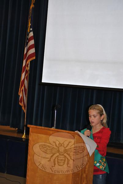 2011 Veterans Day ceremonies at Hawley School.  (Crevier photo)