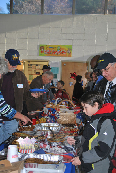 Veterans Day 2011 at Sandy Hook School.  (Crevier photo)