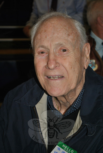 Ted Hawley, during the 2011 Veterans Day ceremonies at Hawley School.  (Crevier photo)
