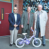 From left, Newtown Rotary Club Sergeant At Arms Mike Snyder, President Pat Caruso, and past president Brian Amey encourage residents to donate usable children's bicycles, for ages 5-10, to the Wheels For Kids Program, now through December 2. All wheeled toys, tricycles, bicycles, Big Wheels, and BMX bicycles are appropriate. The bicycles will be delivered to Danbury Youth Services, Inc, that day, where volunteers from Cannondale Bicycles in Bethel will refurbish them. Danbury Youth Services will then distribute the like-new bicycles to needy families for the holidays. The Rotary Club has collected 36 bicycles so far this year, stored at the Tier One facility on Peck's Lane, through the courtesy of owner Michael Iassogna, and would love to have more. To donate a used children's bicycle, contact Mr Amey at 203-426-2906; Mr Caruso at 203-426-8870; or Carrie Swan at 203-426-1230. Pick up can be arranged.	 (Crevier photo)