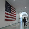 A 12- by 18-foot US flag is hanging in the main corridor at the Newtown Municipal Center at 3 Primrose Street. At 3:30 pm on Sunday, November 27, those who were elected to office on November 8 will be sworn into office in the building's main meeting room. Following those ceremonies, refreshments will be served in the corridor.  (Gorosko photo)