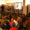 Children's author Stephen Swinburne spoke to students on Monday afternoon, November 28, at Head O'Meadow School.  (Hallabeck photo)