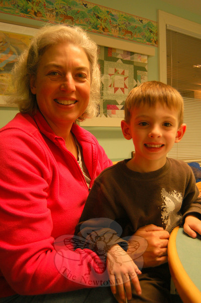 Newtown Bee: When do you start your holiday shopping? Debbie Stoltze (with Tommy Milligan): Soon. (Hallabeck photo)