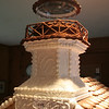 Donna Ball and Laura McNamara's Sugar Cookie Sheffield Island is one of four entries — from two dozen entries — in The Maritime Aquarium's Festival of Lighthouses that depicts real lighthouses.  (Hicks photo)
