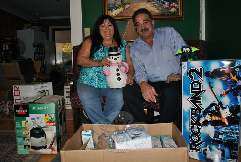 Anita Pettengill and Dan Telesco are founders of the Make A Home Foundation, located at 87 Church Hill Road in Sandy Hook. They provide gently used household items, clothing, and furniture to the homeless all over the state.  (Crevier photo)