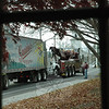 Some stories are easier for The Bee to cover than others. When a tractor trailer lost its drive shaft and became disabled on Church Hill Road Wednesday morning, it was just a matter of looking up from the desk and through a window to get a photo of the incident. The truck was on its way from central Connecticut to The Bronx with a dairy delivery. The driver had exited I-84 because of a traffic backup from a multiple-car accident in the westbound lanes of the interstate between Exits 9 and 10 at the time only to find his own trouble on the detour route.  (R. Scudder Smith photo)