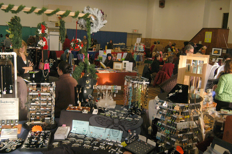 Artisans Alliance presented the Newtown Holiday Craft Festival on Sunday, December 11, in the Edmond Town Hall gymnasium. Regional vendors offered a range of crafts from jewelry to holiday decorations.  (Hallabeck photo)