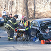 Police report that a three-vehicle accident occurred about 3:28 pm on February 6 at the driveway entrance to Masonicare at Newtown at 139 Toddy Hill Road. Botsford firefighters and Newtown Volunteer Ambulance Corps responded to the incident, which caused travel delays in the area. Police said motorist Roger Knudsen, 70, of Hanover Road, who was driving a 2006 Subaru Legacy sedan eastward on Toddy Hill Road, stopped to allow two left-turning vehicles to exit the driveway. Eastbound motorist Ryan Pasko, 18, of Poplar Drive, who was driving a 2004 Dodge 2500 pickup truck, then struck the rear end of the Subaru. That impact pushed the Subaru into a 2003 Mitsubishi Galant sedan driven by Michael Car-roll, 35, of Naugatuck, who was waiting at the end of the driveway to make a left turn. Ambulance staffers transported Knudsen to Danbury Hospital to be checked for pain. Pasko received an infraction for following too closely.                                                                                         —Bee Photo, Gorosko