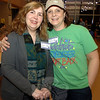 Relay Chair Michelle Babyak, right, hugs Sue Rocca, who was chosen as the 2012 Newtown Relay Honorary Chair during a kickoff event February 1 at Newtown High School. —Bee Photo, Bobowick