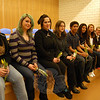 "The ten students who were present for the Newtown High School mid-year graduation ceremony on Tuesday, February 7, gathered on the stage during their reception.  —Bee Photo, Hallabeck<br /> <br /> PLEASE NOTE: ADDITIONAL PHOTOS from the evening's ceremony and reception, which were compiled into a slideshow, can be found in their own photo gallery, here: <a href=""http://photos.newtownbee.com/Events/Newtown-High-School-Midyear/21410086_bHVQDD#!i=1705939829&k=FgkXrKM"">http://photos.newtownbee.com/Events/Newtown-High-School-Midyear/21410086_bHVQDD#!i=1705939829&k=FgkXrKM</a>"