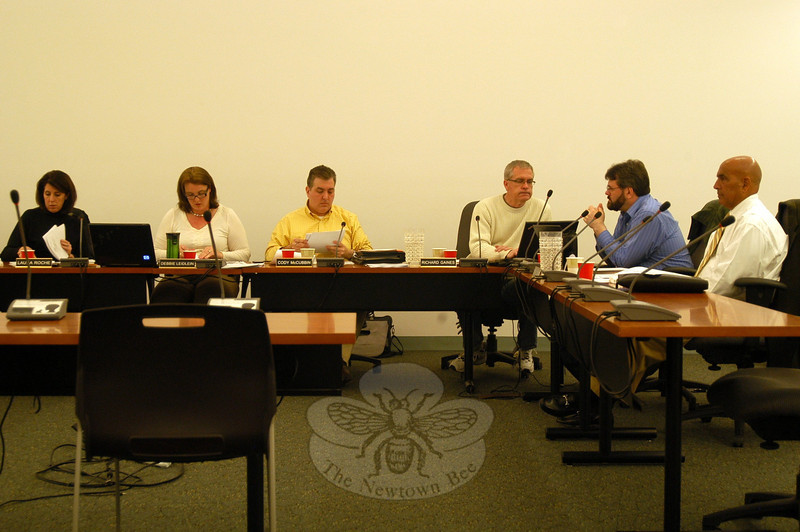 The Board of Education met during a regularly scheduled meeting on Tuesday, February 7, at Newtown Municipal Center.  —Bee Photo, Hallabeck