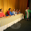 During the presentation of The Last Supper Enactment, each of Jesus's 12 Apostles, including James, the Brother of John, standing at right (being portrayed by David Lutz), offers a monologue. —Bee Photo, Hicks