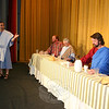 During the presentation of The Last Supper Enactment, each of Jesus's 12 Apostles, including Nathaniel, left (being portrayed by Anthony Vournazos, with Arthur Stock, Denis Bouffard and Joel Wardenburg at the table), offers a monologue. —Bee Photo, Hicks
