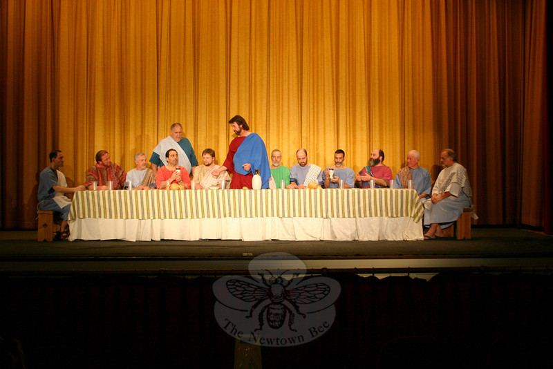 The Immanuel Lutheran Players are bringing The Last Supper Enactment, a Lenten offering, into Newtown for the first time this year, with two presentations planned for March 4 at Edmond Town Hall Theatre.		—Bee Photo, Hicks
