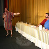 Immanuel Lutheran Players will bring The Last Supper Enactment to Newtown for this first time this year. Shown during a recent run-through of the event are, from right, Arthur Stock (James the Lessor) and Joel Wardenburg (Jesus Christ).  --Bee Photo, HIcks