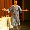 During the presentation of The Last Supper Enactment, each of Jesus's 12 Apostles, including Philip (being portrayed by Michael Bardelli), offers a monologue. —Bee Photo, Hicks