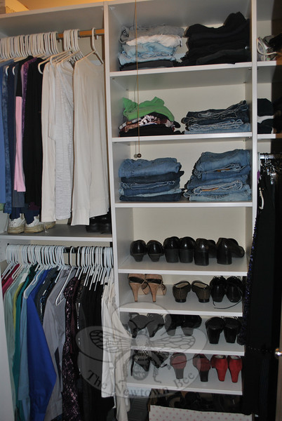 Investing in a closet system, says professional organizer Karen Pierce of Inner Spaces, can make it easy to keep shoes and clothing organized.	—Bee Photo, Crevier
