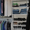 Investing in a closet system, says professional organizer Karen Pierce of Inner Spaces, can make it easy to keep shoes and clothing organized.—Bee Photo, Crevier