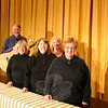 Although never seen, the musicians for The Last Supper Enactment provide as much to the presentation as the 13 men on stage. Among those participating in this year's for presentations in Danbury and Newtown are, from left, Carl Lindquist, Debbie Hollrah, Nancy Lutz, Lori Woodruff, and Joanne F. Archibald. —Bee Photo, Hicks