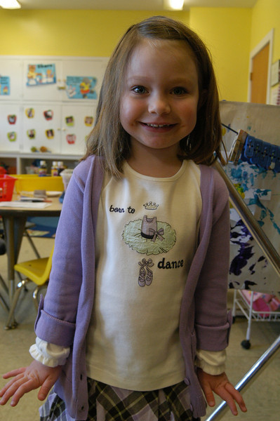 Newtown Bee: With Thanksgiving coming up, what are you thankful for? Olivia Engel: My blanket. (Hallabeck photo)