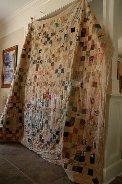 A quilt created by Middle Gate students in 2002 will be on auction to fund a scholarship for one of those students March 16 and 17 before and during intermission for Newtown High School's production of Sweeney Todd, set to start at 7 pm on both dates. —Bee Photo, Hallabeck