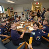 Den 3, Pack 570 scout members enjoyed a snack at Kevin's Community Center Saturday, March 10, after learning some basic first aid skills. —Bee Photo, Bobowick