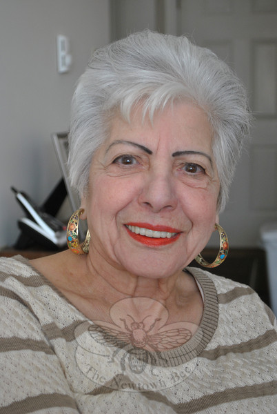 """Proud nonagenerian Victoria Scalora is featured in this week's Snapshot column.  (Crevier photo)<br /> <br /> Read more here:<br />  <a href=""""http://newtownbee.com/Features/Features/2012/03-March/2012-03-22__13-22-16"""">http://newtownbee.com/Features/Features/2012/03-March/2012-03-22__13-22-16</a>"""